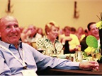 Attendees enjoy one of several prominent keynote speeches during the