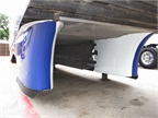 The trailer side skirts are three dimensional and shaped like an