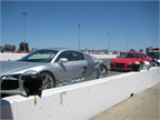 A dozen Audi R8 models were put through the paces at the 1,600-acre