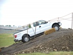 The F-150 was also available for driving on an off-road course.