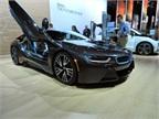 BMW s i8 supercar has a hybrid gas-electric engine.