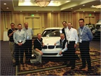 The BMW fleet sales team, along with members of the BMW international