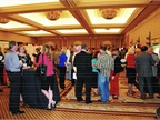 Attendees mingle during the event.