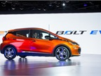 The Bolt EV's drive system uses a single high-capacity electric motor to propel the car.