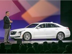 Dan Creed, vice president, sales operations, Cadillac, speaks during a