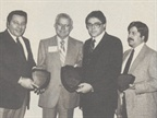 Top award winner for Oldsmobile, Tom Scolan (center) of Weil
