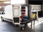 The DECKED in-vehicle storage system is customizable and features two