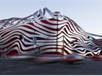The Petersen Automotive Museum s exterior was inspired by iconic
