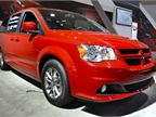 Chrysler had its Dodge Grand Caravan at the auto show.