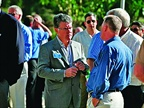 GM s Don Johnson speaks with a customer at the event.