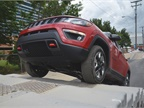 Another view of the 2017 Jeep Compass climbing stairs