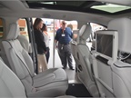 Fleet customers check out the rear seating in the Chrysler Pacifica