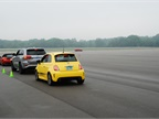 Journalists had the opportunity to drive an autocross course using