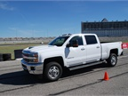 A winding autocross course allowed journalists to get a sense of the