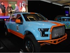 A Ford pickup ready to roll as part of the Gulf Racing support team.