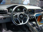 A look inside the cockpit of the Volkswagen CrossBlue Coupé