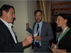 Nexus Communication s Steven Schoefs (center) and Caroline Thonnon