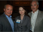 (L-R) Chrysler s Jim Sassorossi, Brenda Davis of Baker Hughes, and