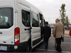 Attendees take a ride in the Ford CNG Bi-fuel van.