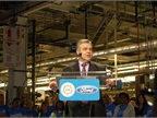 Plant Manager Brad Huff welcomed employees, senior management, and