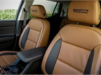 The Acadia All Terrain offers leather surfaces with its off-road