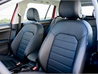 The Golf Alltrack offers leatherette seating surfaces and heated
