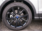Optional 19-inch black aluminum wheels can be added.