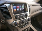 The Tahoe now includes Apple CarPlay compatibility that s displayed on