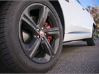 Available 20-inch wheels include red brake callipers with a spare in