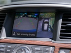 An optional 360-view camera system helps drivers maneuver the SUV in