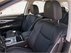 Front seats offer eight-way power adjustment and heating or cooling