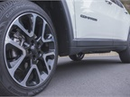 The Compass Latitude rides on optional 19 x 7.5 inch aluminum wheels.