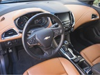 Steering wheel controls allow the driver to set cruise control and