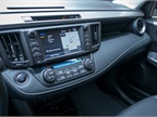 The center dashboard, standard on trims XLE and higher, features a