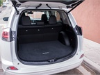The RAV4 offers 38.4 cu-ft. of trunk space, and 73.4 cu-ft. with the