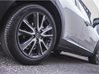 The front-wheel-drive CX-3 rides on 16-inch wheels.