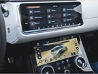 Two high-definition touchscreens display infotainment data.