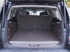 The vehicle offers 15 cubic feet of cargo space with three rows