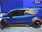 The Transit Connect Hot Wheels upfit sports both the toy brand's