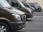 Mercedes-Benz brought four Sprinter 2500 passenger vans to Bobit Business Media on March 25 to go over the new engine, grille and other features on the 2014-MY. (Stay tuned for a cargo and crew van gallery coming soon.)