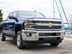 The 2015 Silverado 2500 Crew Cab with bi-fuel CNG option reduces