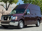 The Nissan NV cargo van is offered in standard and (shown here)