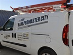 The ProMaster City can be upfitted with ladder racks.