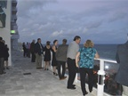 Attendees were able to mingle in the cool Florida weather during