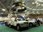 Altec displayed its aerial lifts, including its telescopic