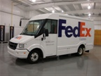 One of the composite delivery vans from Utilimaster that FedEx is