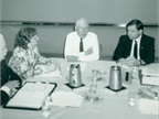 Feirer (center) served as NAFA president from 1979 to 1981, which