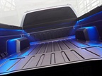 The bed features LED lights for working at night, multiple integrated