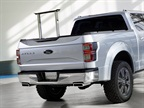 In the back of the Atlas Concept, the truck has an extendable cargo