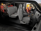 Pictured is a look at the E-Series Crew Van upfit package. The crew